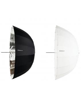 Tyto dva hluboké deštníky jsou výbornou kombinací pro pěkné a snadné svícení portrétů