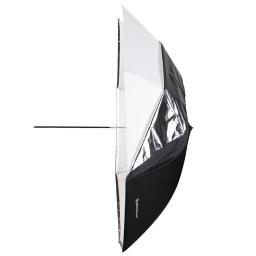 Deštník 2v1 Bílý/Prusvitný 85 cm