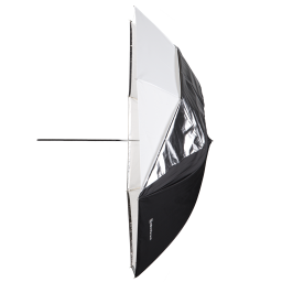 Deštník 2v1 Bílý/Prusvitný 105 cm