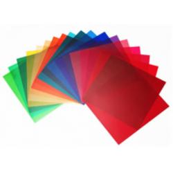 20 barevných 21cm filtrů