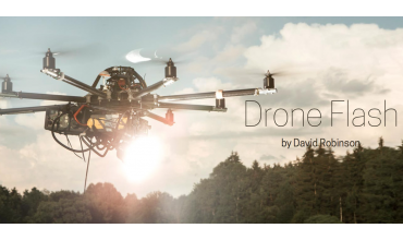 Blesk na dronu